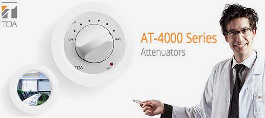 Регулятор громкости TOA AT-4000 на 200 Вт | toa.com.ua