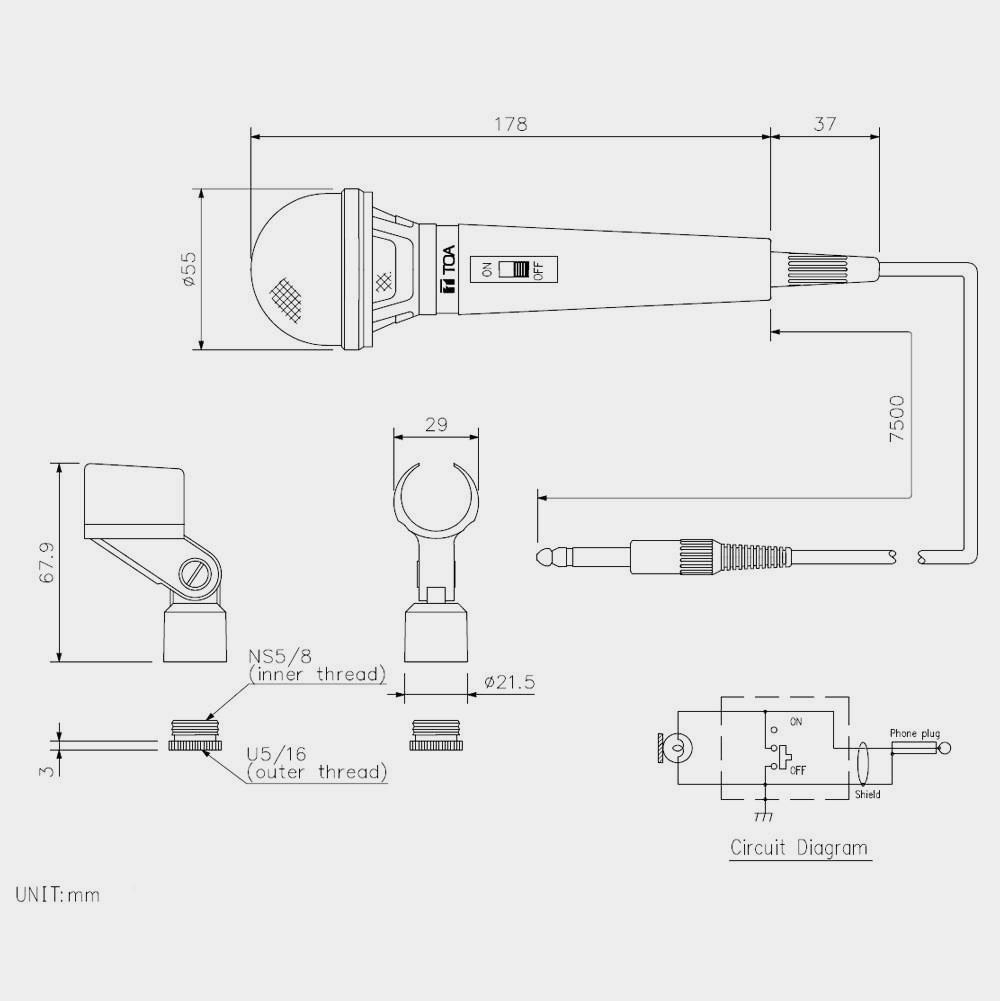 Микрофон динамический TOA DM-1100 | toa.com.ua
