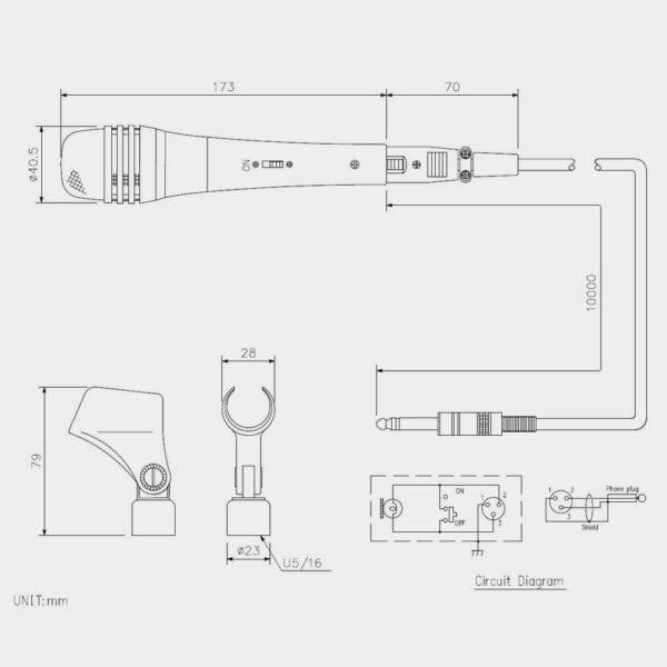 Микрофон динамический TOA DM-1500   toa.com.ua