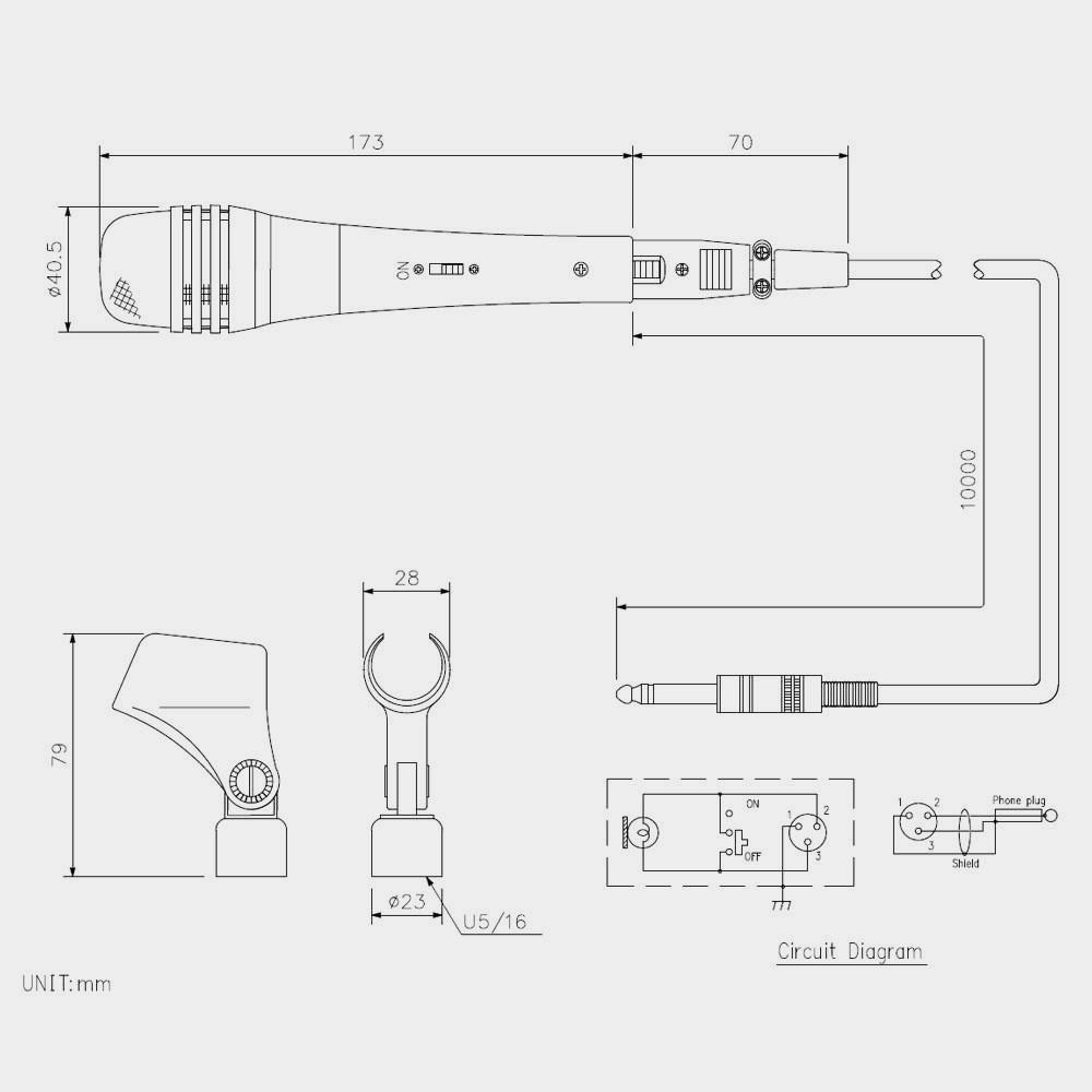 Микрофон динамический TOA DM-1500 | toa.com.ua