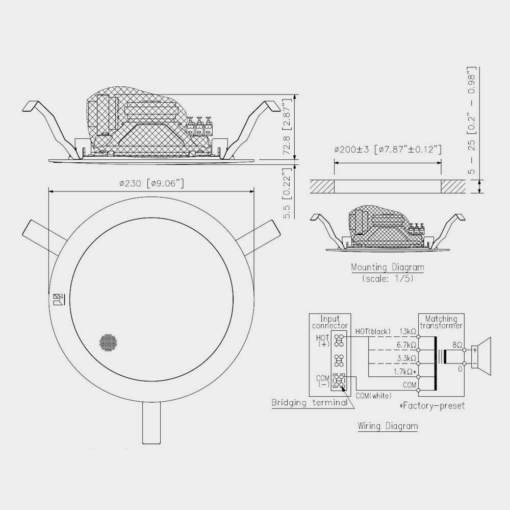 Громкоговоритель потолочный TOA PC-2369 | toa.com.ua