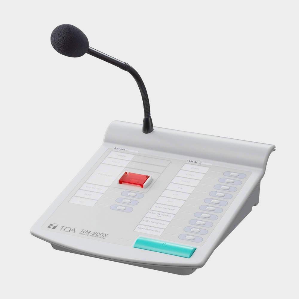 Дистанционная микрофонная консоль TOA RM-200X   toa.com.ua