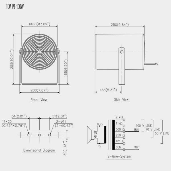 Громкоговоритель прожекторный TOA PJ-100W | toa.com.ua