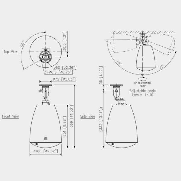 Громкоговоритель прожекторный TOA PJ-64/304 | toa.com.ua