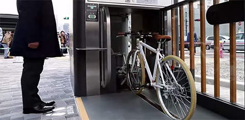Kasai Station Underground Bicycle Parking
